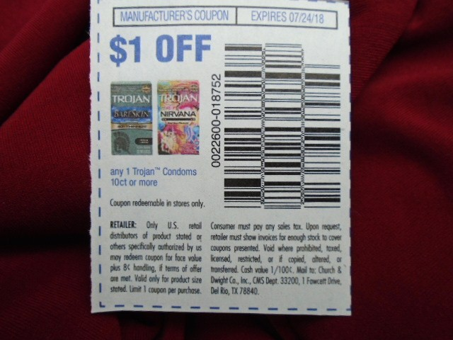 Manufacturer Coupons Mail >> Ebluejay 20 Trojan Condoms Coupons 1 Off 1 Exp 7 24 2018