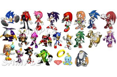 SONIC THE HEDGEHOG WALL DECALS CHOOSE YOUR FAVORITE CHARACTERS.