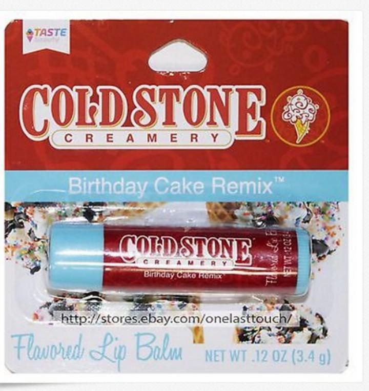 Ebluejay Cold Stone Creamery Lip Balm Birthday Cake Remix Carded New