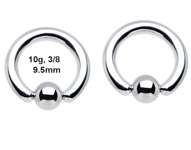 Ebluejay Pair Steel 10g 9 5mm Captive Bead Rings Nose Septum Hoop