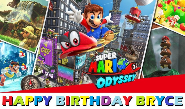 Ebluejay Super Mario Odyssey Edible Cake Topper Image Decoration