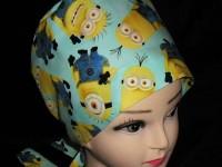 70a54e03b9c Despicable Me Large Minion Blue Nurses Scrubs Hats Women Pixie Scrub Caps  Surgical Cap