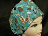 74e164bf370 Handmade Cartoon Hey Arnold Football Head Scrubs Hats Pixie Scrub Caps  Surgical Cap