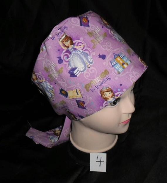 4269daad58a Nurses Disney Surgical Scrubs Scrub Caps Ladies Pixie Cap Hat Princess  Sophia PRINCESS IN TRAINING