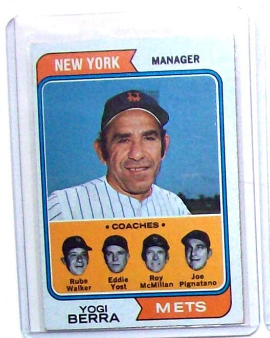 Ebluejay 1974 Topps 179 Yogi Berra Baseball Card
