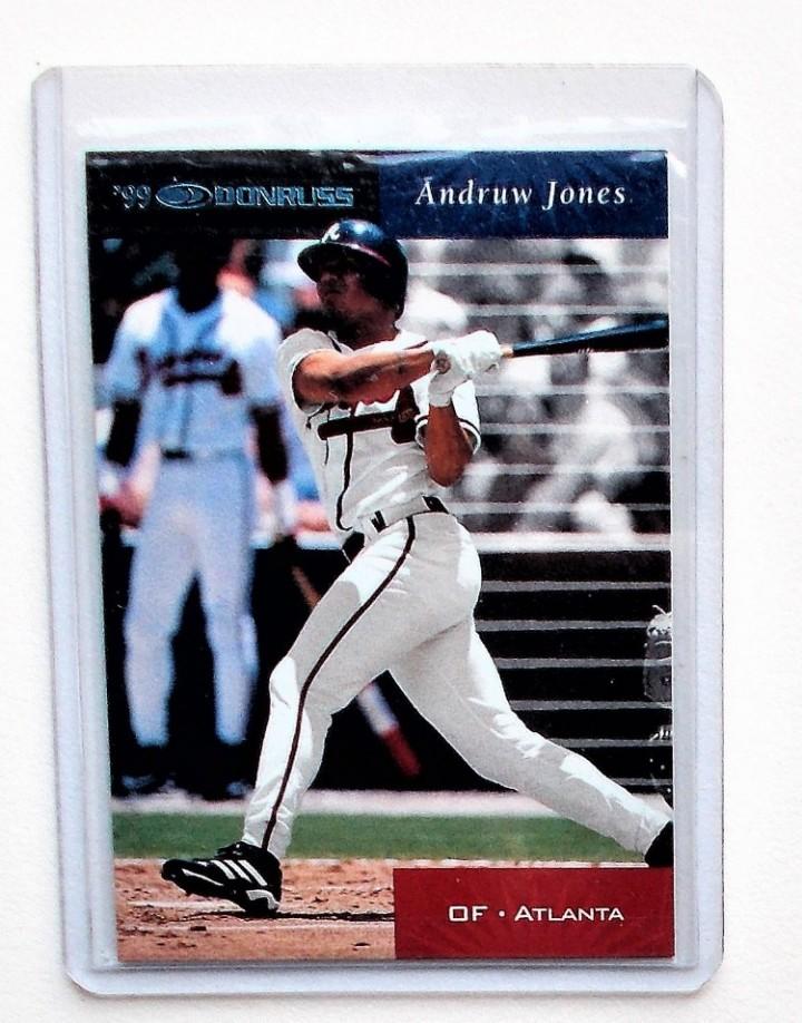 Ebluejay 2001 99 Donruss 9 Andruw Jones Baseball Card