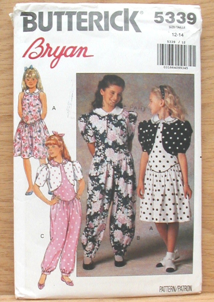 eBlueJay: Girls Vintage Jacket Dress Jumpsuit Butterick 5339 Bolero ...