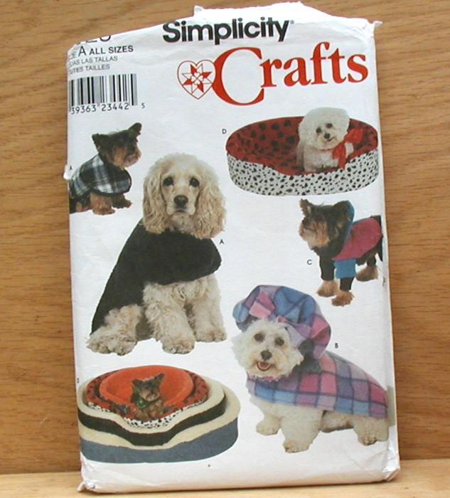 eBlueJay: Simplicity 8928 Sewing Pattern Bed Cover Dog Clothes Coats ...