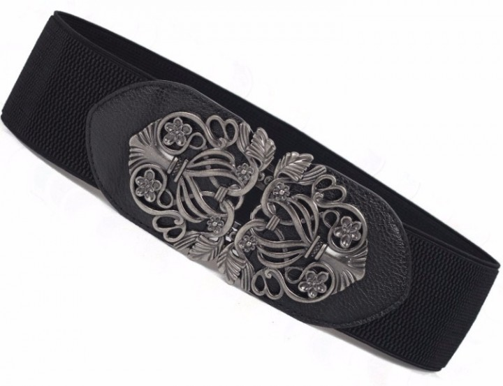 30a80706095 eBlueJay  Women Flower Belt Buckle Girls Female Elastic Belts