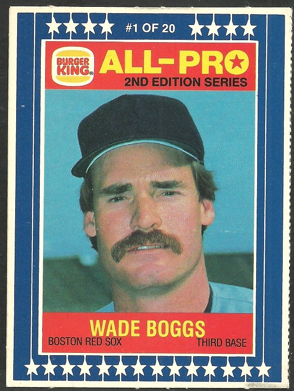 Ebluejay Boston Red Sox Wade Boggs 1987 Burger King All Pro