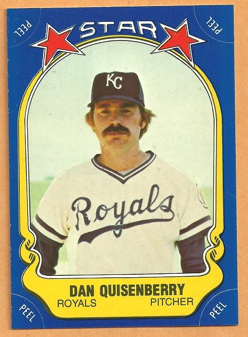 Ebluejay Kansas City Royals Dan Quisenberry 1981 Fleer Star