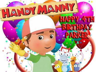 Wondrous Ebluejay Handy Manny Edible Birthday Cake Image Icing Topper Birthday Cards Printable Inklcafe Filternl