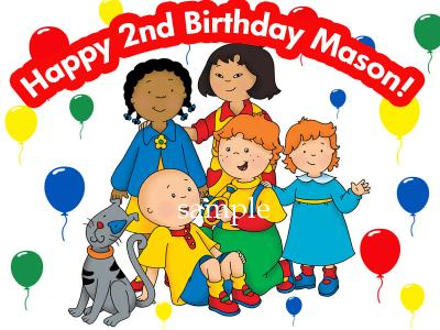 eBlueJay CAILLOU Edible Birthday CAKE Image Icing Topper