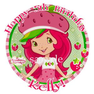 Amazing Ebluejay Strawberry Shortcake Round Edible Icing Image Birthday Funny Birthday Cards Online Elaedamsfinfo