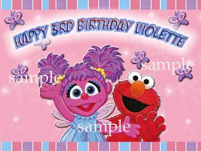 Pleasing Ebluejay Abby Cadabby Elmo Edible Birthday Cake Image Icing Topper Funny Birthday Cards Online Necthendildamsfinfo