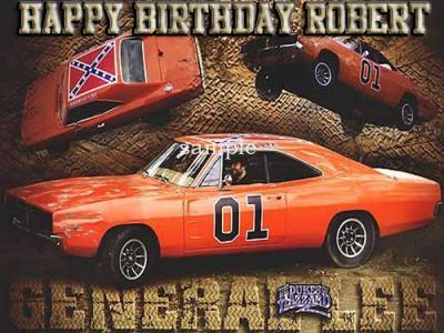 Pleasing Ebluejay General Lee Dukes Of Hazzard Edible Icing Image Cake Topper Personalised Birthday Cards Arneslily Jamesorg