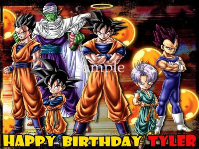 eBlueJay DRAGONBALL Z Edible Photo CAKE Topper Icing Image Decoration