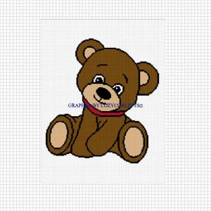 Teddy Bear - (Chart/Graph AND Row-by-Row Written Instructions ... | 300x300