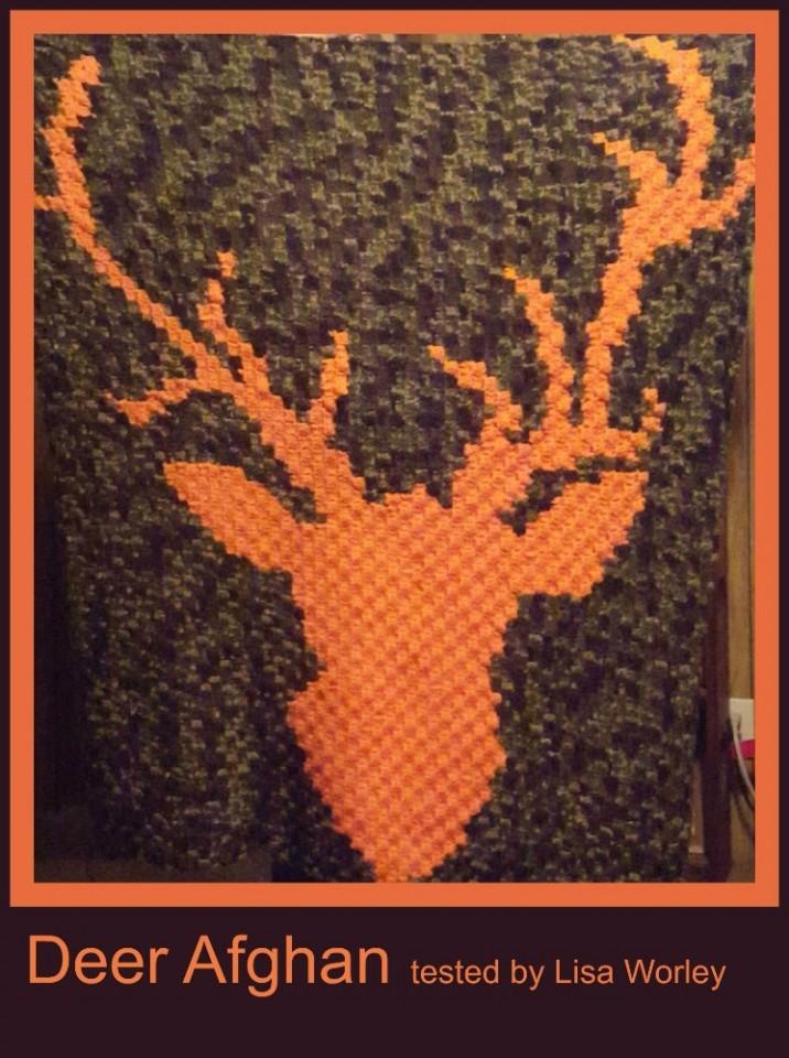 Free Crochet Deer Afghan Pattern : eBlueJay: Deer Afghan Crochet Pattern