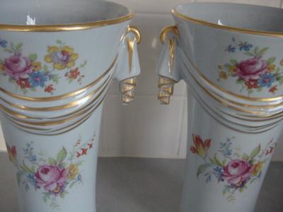 Ebluejay Abingdon Pottery Vases Set P133 On Bottom Of Vase Both