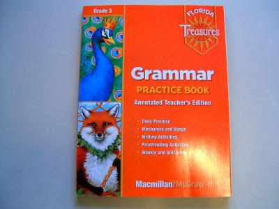 EBlueJay Florida Treasures Grammar Practice Book Annotated