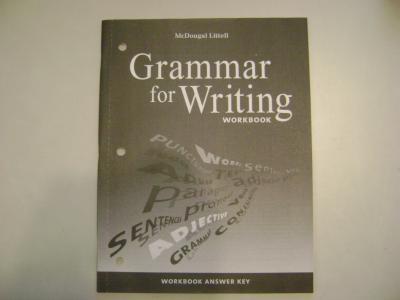 eBlueJay: WORKBOOK ANSWER KEY - McDougal Littell Grammar for ...