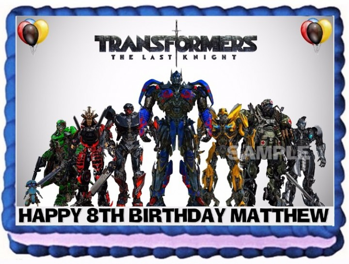 On Hold TRANSFORMERS CAKE TOPPER EDIBLE BIRTHDAY DECORATION