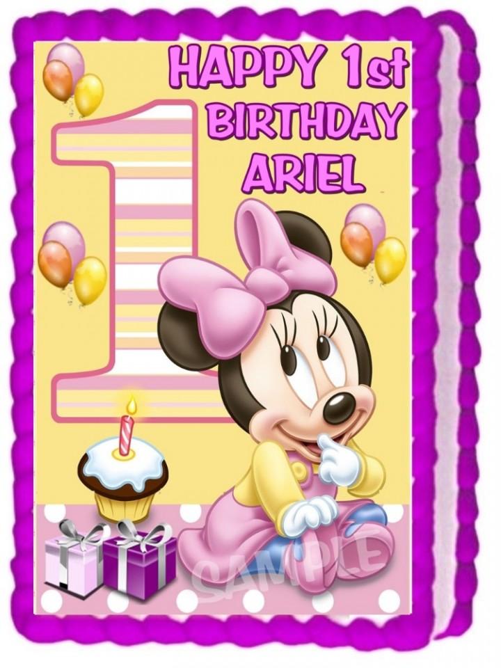 Tremendous Ebluejay Baby Minnie Mouse Edible Cake Topper Decoration Birthday Funny Birthday Cards Online Necthendildamsfinfo