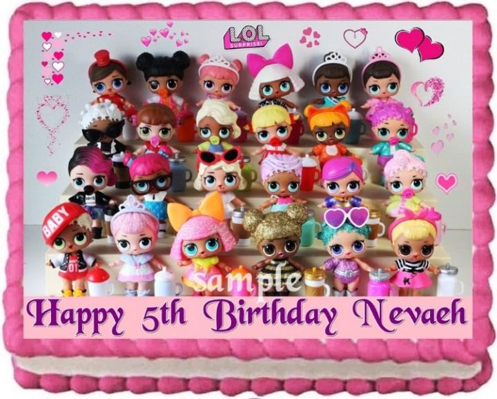 Awesome Ebluejay Lol Dolls Cake Topper Edible Birthday Cake Decoration Funny Birthday Cards Online Alyptdamsfinfo