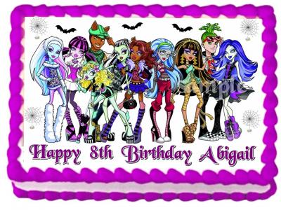 Fine Ebluejay Monster High Edible Cake Topper Image Birthday Decoration Personalised Birthday Cards Beptaeletsinfo