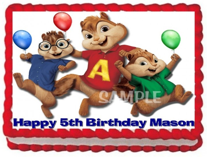 Outstanding Ebluejay Alvin And The Chipmunks Cake Topper Edible Birthday Funny Birthday Cards Online Alyptdamsfinfo