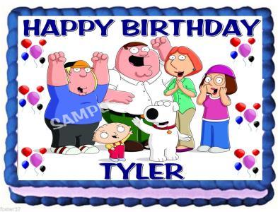 Fantastic Ebluejay Family Guy Edible Birthday Cake Topper Funny Birthday Cards Online Alyptdamsfinfo