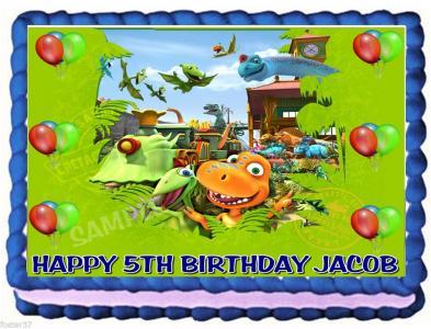 Tremendous Ebluejay Dinosaur Train Edible Cake Topper Image Birthday Decoration Personalised Birthday Cards Veneteletsinfo