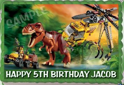 eBlueJay: LEGO DINO DAN EDIBLE CAKE TOPPER IMAGE PARTY DECORATION