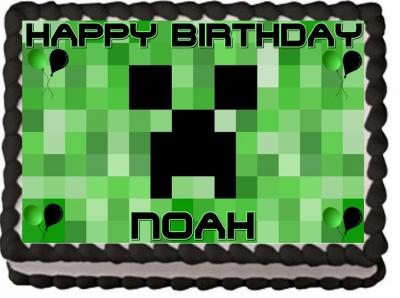 Fresh Minecraft Edible Cake topper Birthday Decorationminecraft