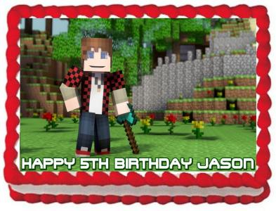 Ebluejay Minecraft Edible Cake Topper Edible Decoration Birthday