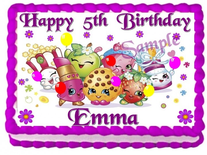 eBlueJay: SHOPKINS EDIBLE CAKE TOPPER BIRTHDAY PARTY ...