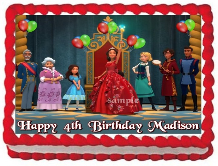 Superb Ebluejay Elena Of Avalor Princess Cake Topper Edible Birthday Funny Birthday Cards Online Sheoxdamsfinfo