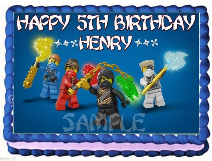 eBlueJay: LEGO NINJAGO NINJA EDIBLE CAKE TOPPER IMAGE