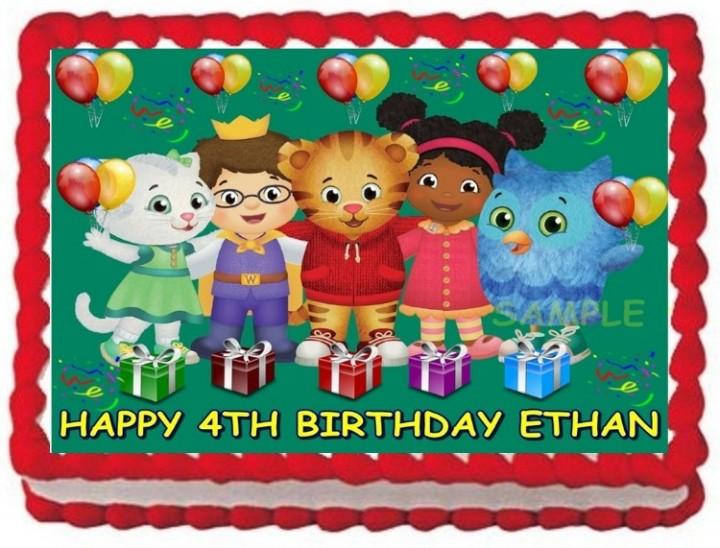 Cool Ebluejay Daniel Tiger Edible Cake Topper Birthday Decoration Funny Birthday Cards Online Alyptdamsfinfo
