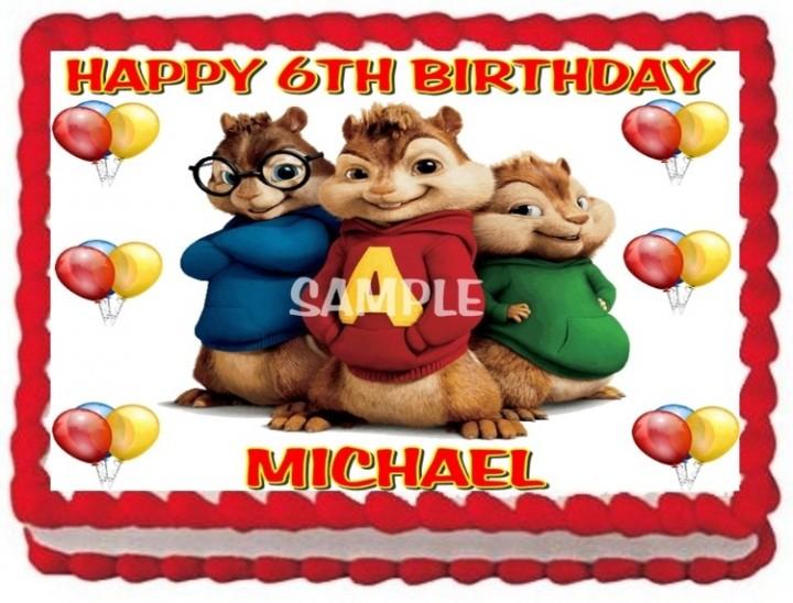 Stupendous Ebluejay Alvin And The Chipmunks Cake Topper Edible Birthday Funny Birthday Cards Online Alyptdamsfinfo