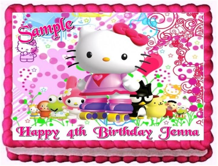 Ebluejay Hello Kitty Edible Cake Topper Decoration Birthday