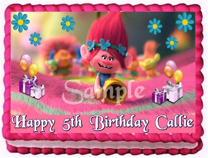 TROLLS MOVIE POPPY CAKE TOPPER EDIBLE BIRTHDAY PARTY DECORATION