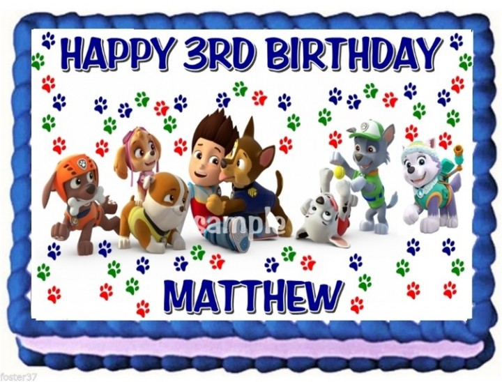 Ebluejay Paw Patrol Dogs Edible Cake Topper Birthday Decoration