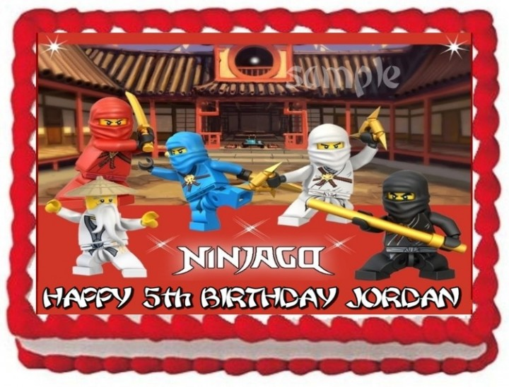 Edible Cake Images Lego Ninjago : eBlueJay: LEGO NINJAGO NINJAS EDIBLE CAKE TOPPER ...