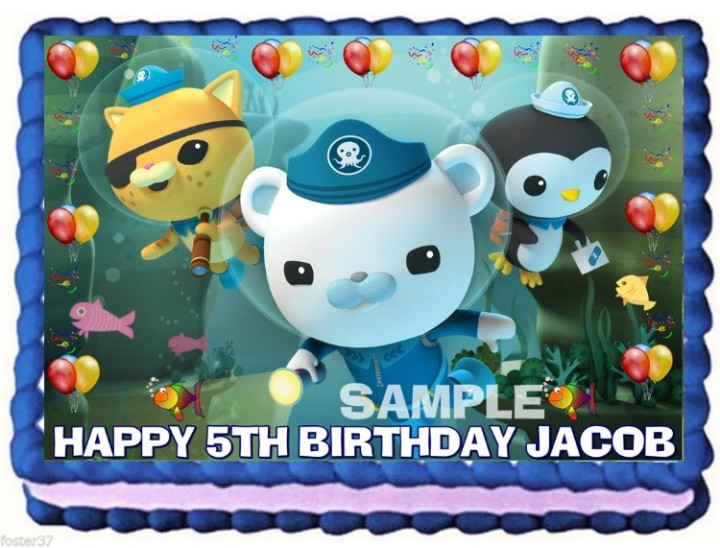 On Hold OCTONAUTS EDIBLE CAKE TOPPER DECORATION BIRTHDAY PARTY