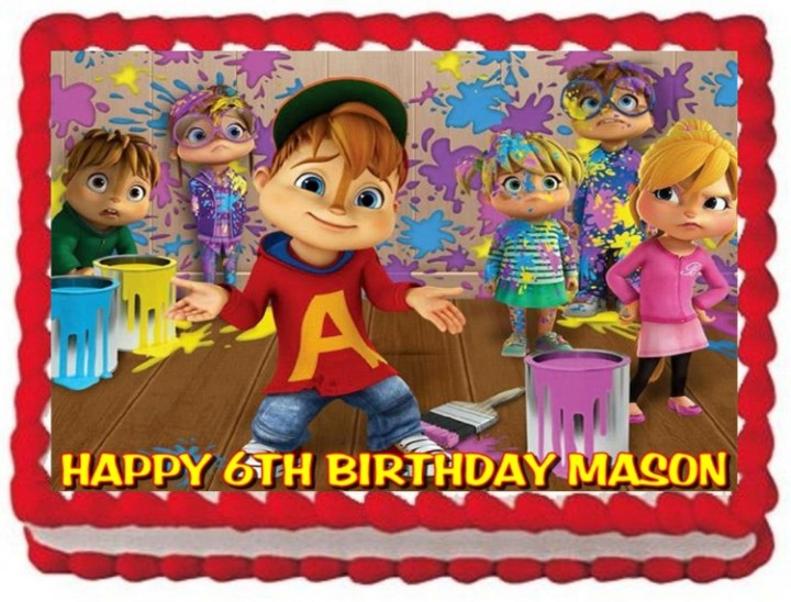 Fabulous Ebluejay Alvin And The Chipmunks Cake Topper Edible Birthday Funny Birthday Cards Online Alyptdamsfinfo