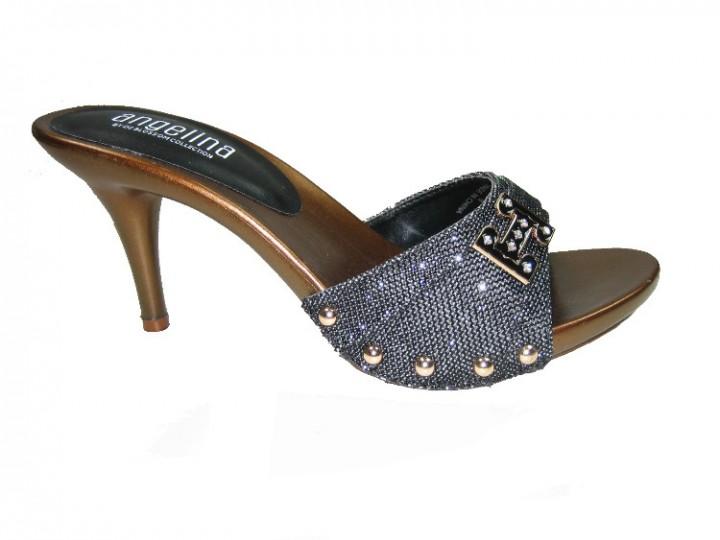1900e381b94 Blossom vote-63 one band slides 3.5 inch stiletto high heel sandals shoe  black size 11