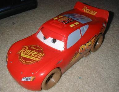 ebluejay disney cars large lightning mcqueen toy car w mud tires