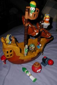 Ebluejay Veggie Tales Pirate Ship Playset With Vegetable Figures